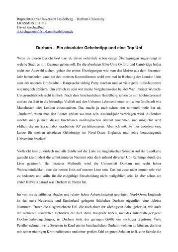 Ruprecht-Karls-Universität Heidelberg – Durham University