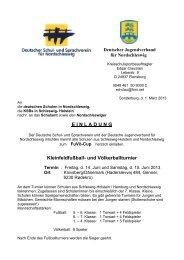 Einladung Knivsberg- Turnier 2013 - Schulsport in Schleswig-Holstein