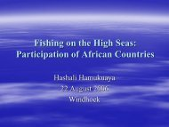 Fishing on the High Seas: Participation of African Countries