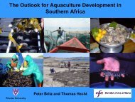 The Outlook for Aquaculture Development in