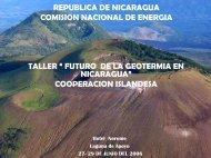 Plan Maestro de Desarrollo Geotérmico de Nicaragua