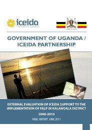 External Evaluation of ICEIDA Support to the Implementation of ...