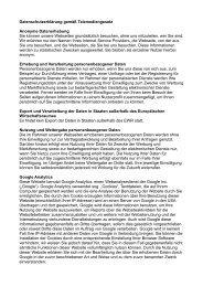Datenschutzerklärung gemäß Telemediengesetz ... - Iceland.de
