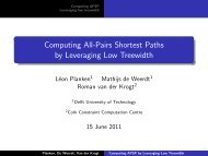 Computing All-Pairs Shortest Paths by Leveraging ... - VideoLectures