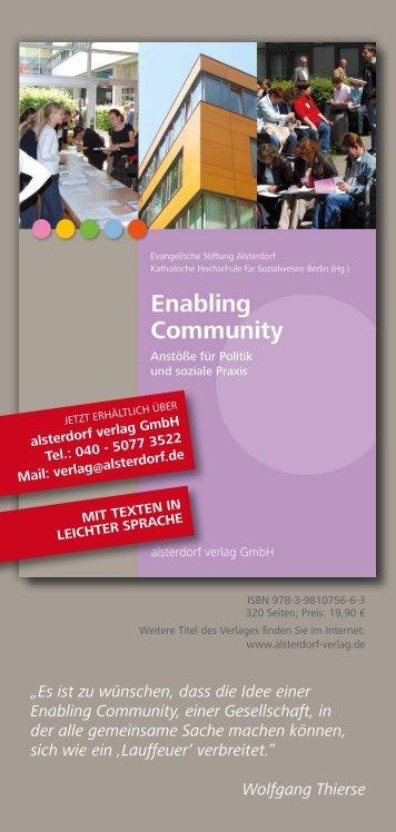 Es ist zu wünschen, dass die Idee einer Enabling Community ... - ICEP
