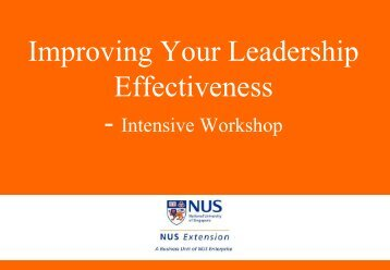 Improving Your Leadership Effectiveness - iCentre