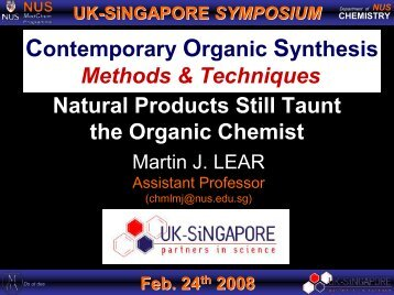 Natural Products Still Taunt the Organic Chemist Contemporary ...