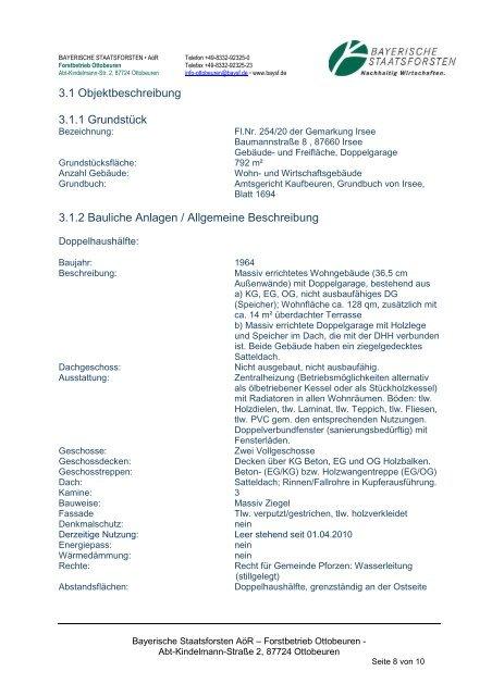 Exposé - Bayerische Staatsforsten