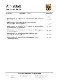 Amtsblatt-Nr. 24 - Ausgabetag: 31.10.2013 - Stadt Brühl