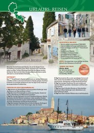 8 Tage Saisonabschluss Kroatien