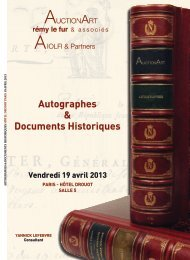 autographes et documents - Bibliorare
