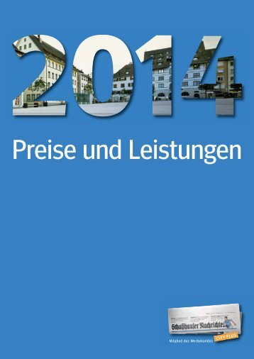 Download als PDF - Schaffhauser Nachrichten
