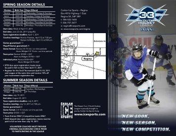 www.icesports.com summer season details sprinG season details