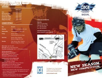 League DetaiLs - Canlan Ice Sports