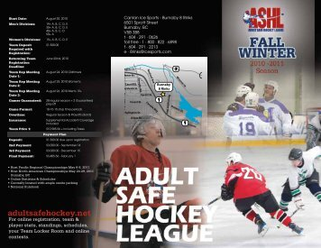 August 30, 2010 - Canlan Ice Sports
