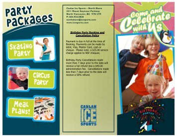 our Birthday Party brochure. - Canlan Ice Sports