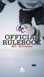Ashn rules and regulations - Canlan Ice Sports