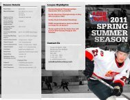 Season Details Contact Us League Highlights ... - Canlan Ice Sports