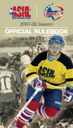 OFFICIAL RULEBOOK - Canlan Ice Sports