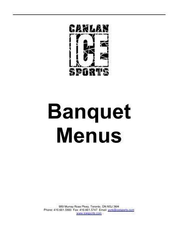 York Banquet Menus - Canlan Ice Sports