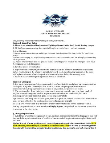 YOUTH 3ON3 HOCKEY LEAGUE - Canlan Ice Sports