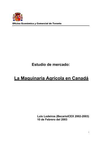 La Maquinaria Agrícola en Canadá - Icex