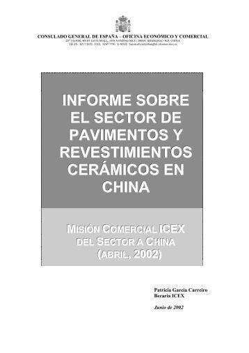 informe sobre el sector de pavimentos y revestimientos ... - Icex