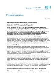 Presseinformation - TUM