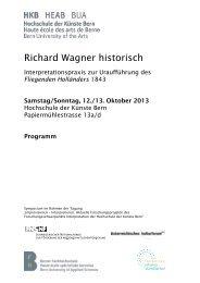 Detailprogramm Symposium (.pdf) - Hochschule der Künste Bern