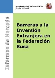 BARRERAS A LA INVERSIÓN EXTRANJERA EN RUSIA - Icex