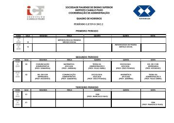 PERÍODO LETIVO 2012.2 - ICF
