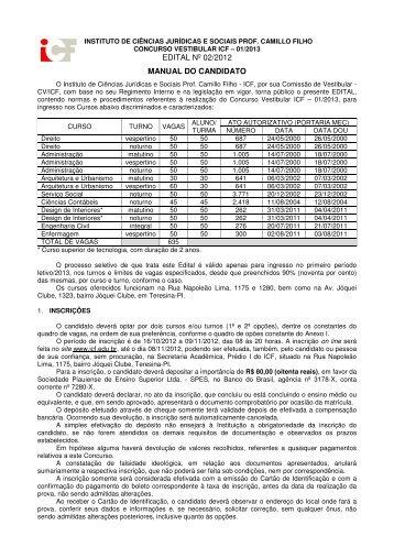 Manual do Vestibular - ICF