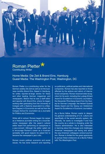 Roman Pletter - International Center for Journalists