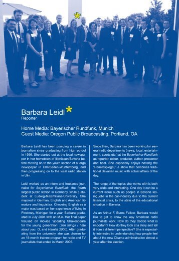 Report by Barbara Leidl