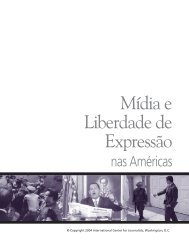 Mídia e Liberdade de Expressão - International Center for Journalists