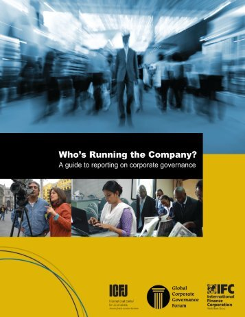 Who's Running the Company? - International Center for Journalists