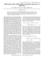 Observation of the orbital angular momentum spectrum of a ... - ICFO