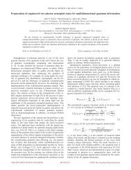 Preparation of engineered two-photon entangled states for ... - ICFO