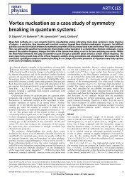 Vortex nucleation as a case study of symmetry breaking in ... - ICFO