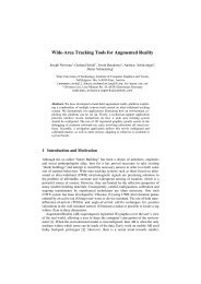 Wide-Area Tracking Tools for Augmented Reality - Institute for ...
