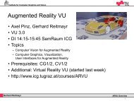 Gerhard Reitmayr ARVU Overview - You have reached galactica.icg ...
