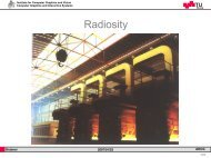 Radiosity - Institute for Computer Graphics and Vision