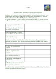 Fragen zur exakten Situationsanalyse