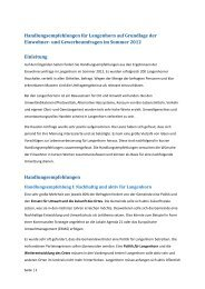 Handlungsempfehlungen für Langenhorn
