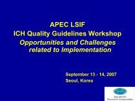 Opportunities and Challenges related to Implementation - ICH