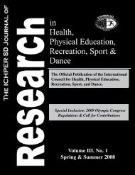Volume III. No. 1 Spring & Summer 2008 - ichper•sd