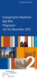 Download Halbjahresprogramm 1/2014 - Evangelische Akademie ...