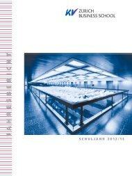 Jahresbericht 2012-13.pdf - KV Zürich Business School