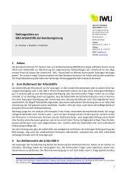 Analysis of the dena data - Institut Wohnen und Umwelt GmbH
