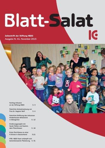 Zeitschrift der Stiftung KBZO Ausgabe Nr. 41, November 2013 ...